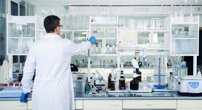 What type of glass is used for laboratory glassware