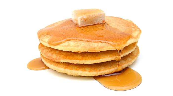 make the pancake fluffy