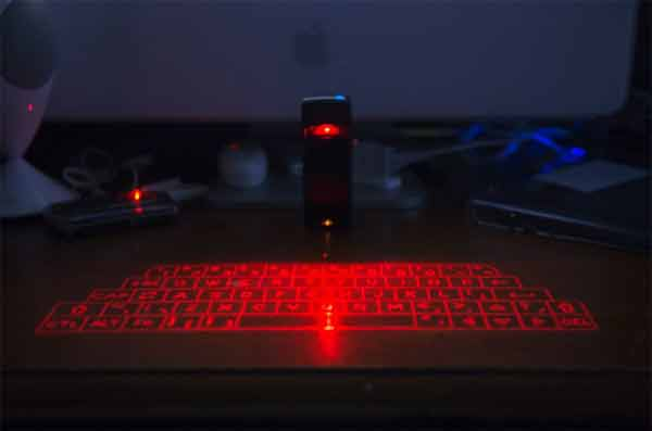 What is a laser keyboard