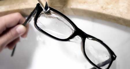 clean your reading glasses